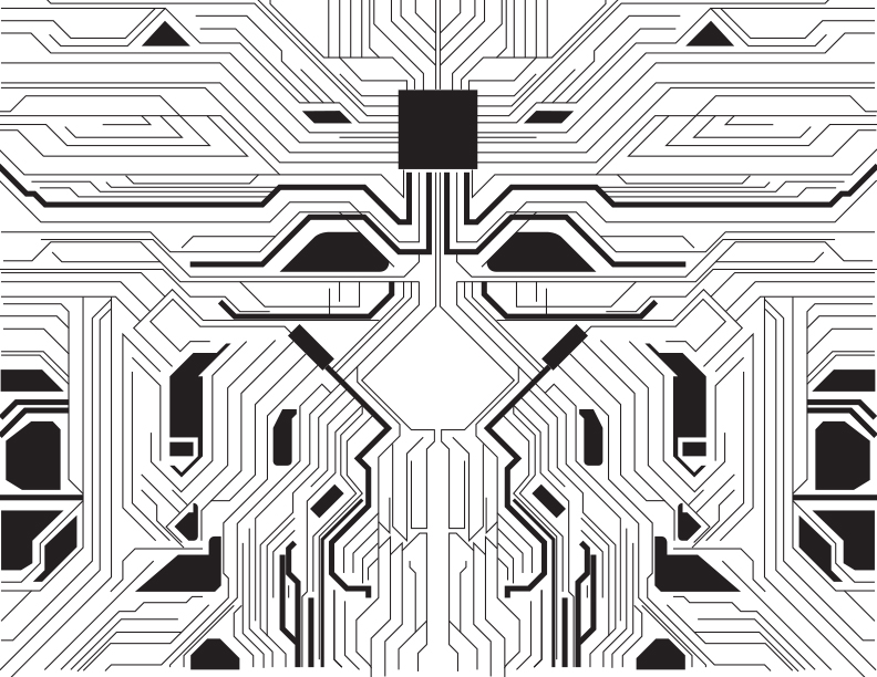 Freebies: Circuit Board Vector