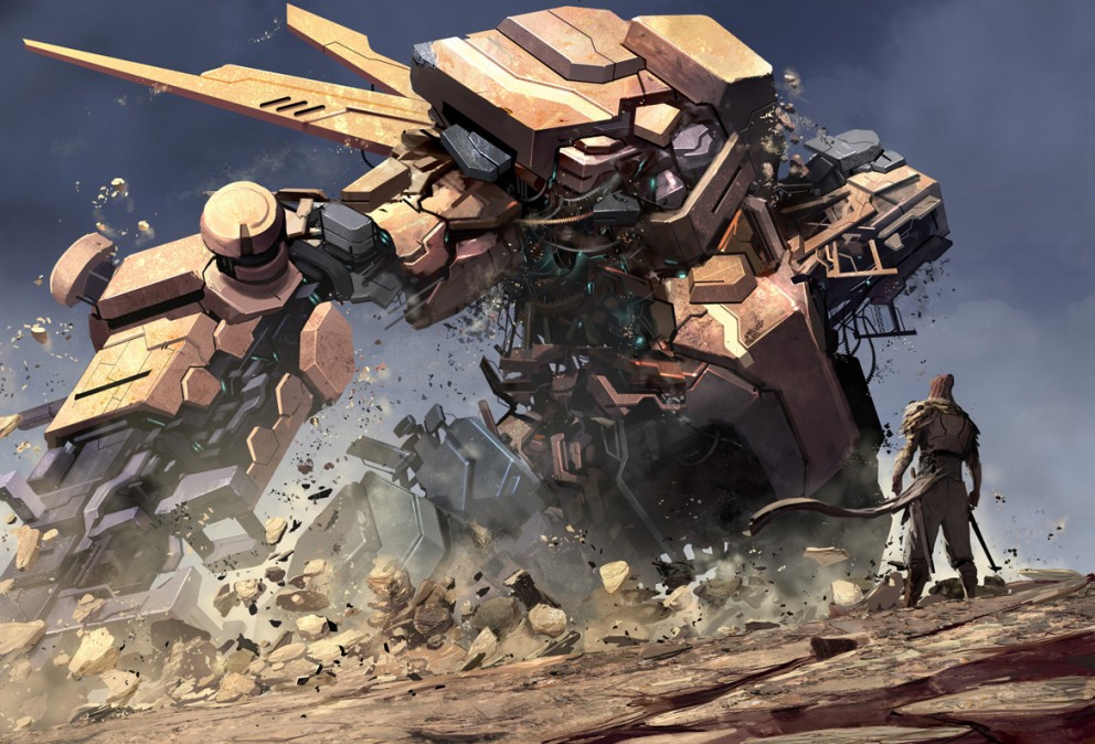 Ground Shaking Giant Robot Concept Art